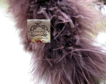 Brown Plum Marabou Boa Feathers