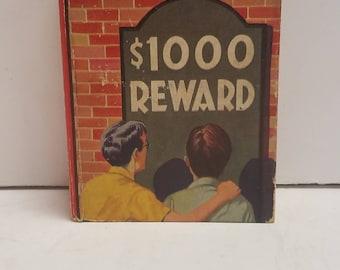 Vintage 1000 (Dollar) Reward  A Detective Story for Boys, Saalfield Pub, #1155 Big Little Book 1938 James McNeal, Illustrated Henry Muheim