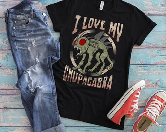 Chupacabra Shirt, El Chupacabra Tee, Cryptozoology Patch, Cryptid T-shirt, Folklore, Pseudoscience,   Funny Tee, Sarcastic