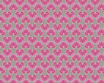 Minshan A119-1 Pink Lotus Flower Lewis & Irene Patchwork Quilting Fabric
