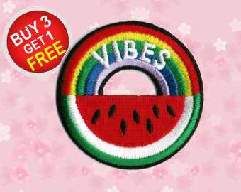 Fruit Patches Watermelon Patch Iron On Patch Embroidered Patch Sew On Patch Patches For Jeans
