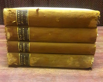 1900-1902 Set of 4 Antique Elbert Hubbard Books, Little Journeys Collection, Published By Roycrofters Of New York, Rare Book Set