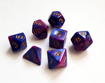 Purple Passion Polyhedral Dice Set