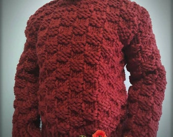 Knitted sweater - Red Square