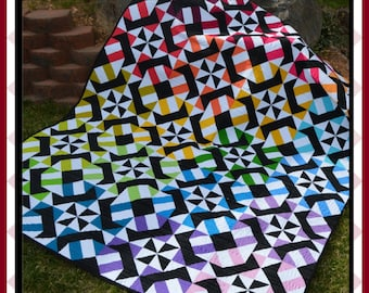 Corkscrew - PDF Quilt Pattern with 4 size options