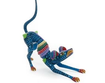 SKINNY DOG Oaxacan Alebrije Animal Wood Carving Mexican Folk Art Sculpture