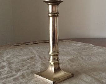 Amazing solid VINTAGE brass candle stick holder. My vintage home.