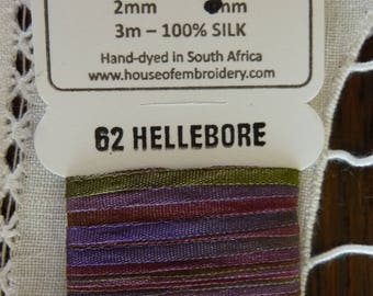 House of Embroidery collar 62 HELLEBORE 2mm Silk Ribbon