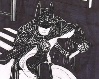 Batman one of a kind original illustration on A4 card