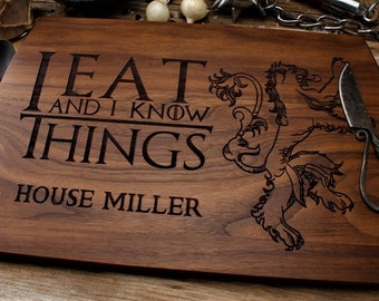 Game of Thrones Cutting Board, GOT cutting board, House Lannister, Westeros, Game of thrones gift, GOT fan, Gift for him, Gift for her,