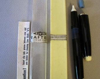 Draftech India Ink Fountain Pen - Vintage  - Technical Pen - Super Fine Nib