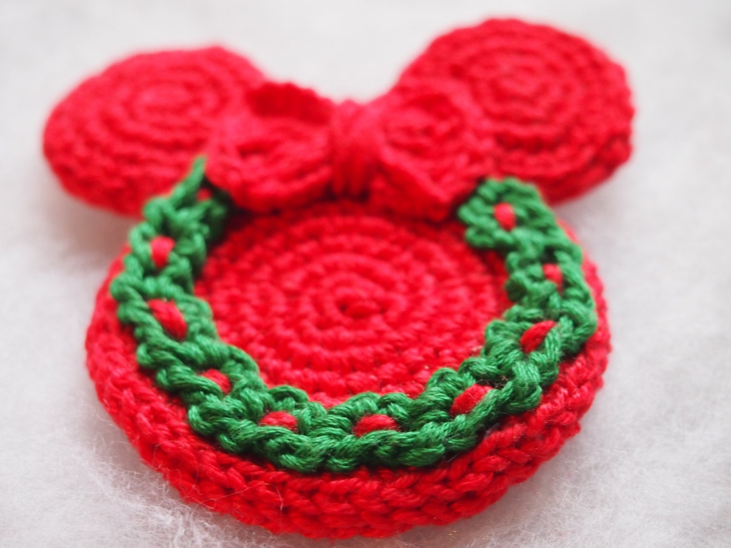 Christmas Ornament Mickey Mouse Minnie Mouse crochet pattern ...