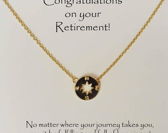 retirement necklace and card, graduation gift, retirement gift w message, retirement necklace, retirement necklace w card, graduation gift,