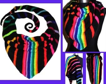 SCARF *RainBoW-Stripes*  TUCH Dreieckstuch Hals- Schultertuch