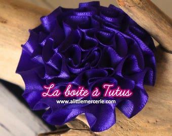 Tassel VIOLET purple fabric flower applique satin sew / stick bag belt P2 headband hair accessory diy