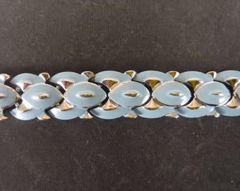 Coro Blue Enamel Silver Tone Bracelet