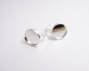 Pad ring base silvercolor 16mm base (D-00230)