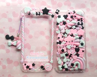 Kawaii Decoden Phone Case, Super cute kawaii full body front back case for Iphone 7 7+ 6 6+ 5SE 5S 5C 4 4S GALAXY S6 S7