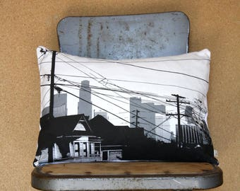 Echo Park Pillow Los Angeles Skyline Pillow Echo Park Neighborhood Pillow Los Angeles Architecture Dark City Collection by Nesta home