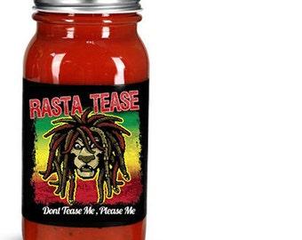 rasta tease hot and bbq sauce