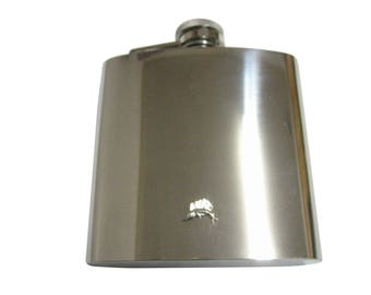 Silver Toned Tiny Marlin Sail Fish Pendant 6 oz. Stainless Steel Flask
