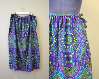 1960s THC Hawaiian Textiles Maxi Skirt