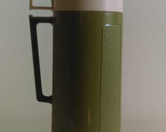 Vintage Green Thermos.