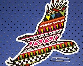 Aztec raven Bumper Sticker