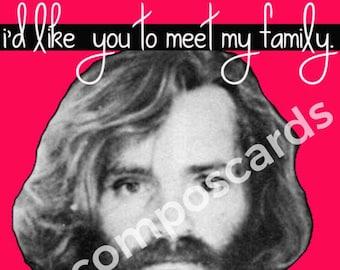 Charles Manson Valentine Card