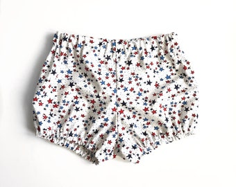 white star bloomers 4th of July - baby toddler girl bloomers
