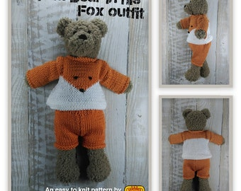 Tom Bear Knitting pattern - Make Your Very Own Teddy bear - Easy To Knit Pattern