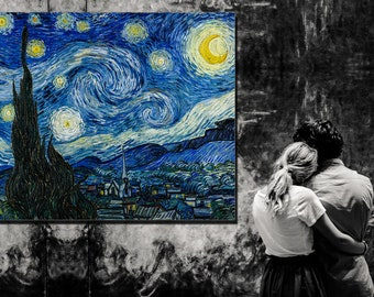 Canvas Fine Art (Museum Quality) ~ The Starry Night ~ VAN GOGH ~ 1889