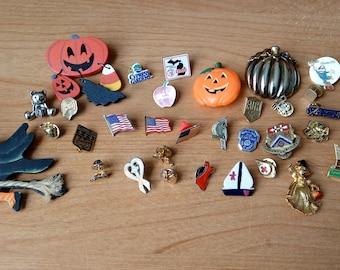 Lot of 34 Vintage pins