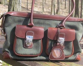 Dooney and Burke Green Leather Purse/handbag