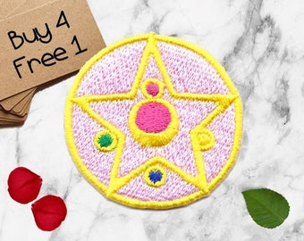Sailor Moon Patches Symbol Patches Iron On Patch Embroidered Patch Sew On Patch Tumblr Patches Patches For Girls