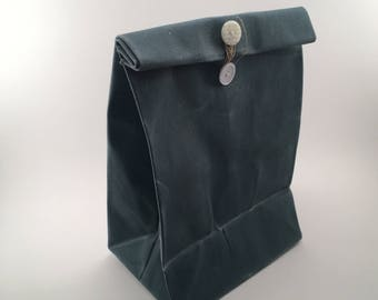 Waxed Canvas Lunch Bag - reusable