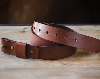 Leather Belt, Belt without buckle