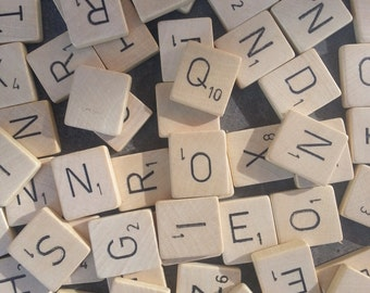 Pick your own letters: Original wooden Scrabble tiles