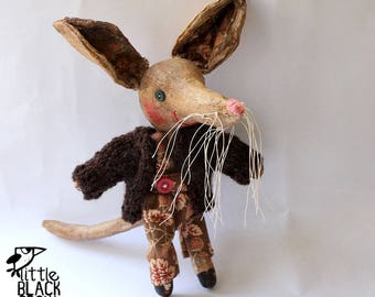 Bilby, Charlie, cloth doll, primitive art doll