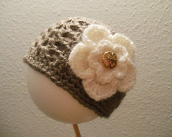 Adorable Baby Crochet Hat for that Special Little Someone, Size Newborn.