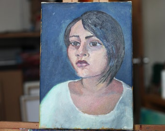 portrait oil painting, original art, oil on canvas