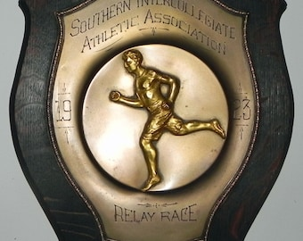 Beautiful 1923 Dieges & Clust Southern Intercollegiate Athletic Association Relay Race Track Trophy Plaque