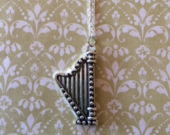 SALE - CLEARANCE - Harp Jewelry - Harp Necklace - Harp Pendant - Music Jewelry - Music Necklace - Harp Necklace - Music Gifts - Harp - Music