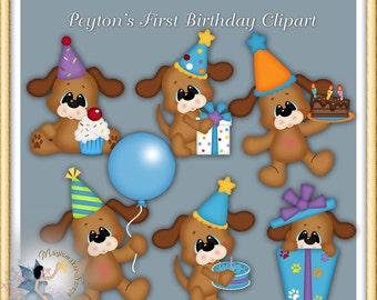 Dog Birthday Party Clipart