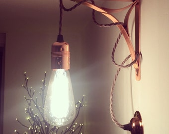 Vintage Wall Lamp Industrial Edison Bulb Cage Copper Sock
