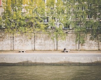 Man Along Seine River