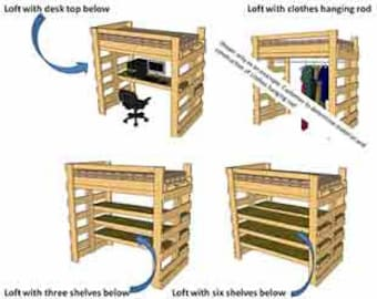 Multipurpose Bunk/Loft Bed Twin Sized- How To Plan