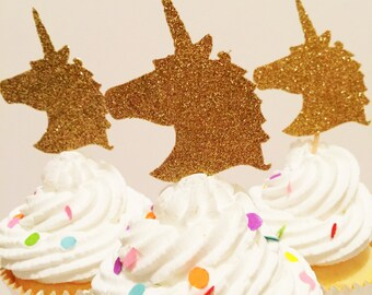 Unicorn Head Cupcake Topper