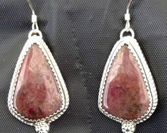 Gem Grade Rhodonite Earrings