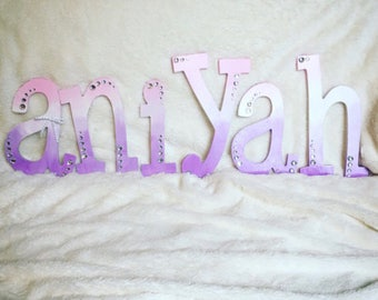 Hand painted ombre letters